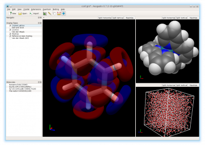 Avogadro 2 showing multimolecule and multiwidget capabilities