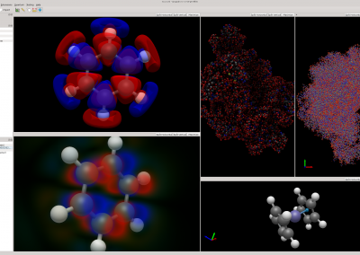 Avogadro 2 showing molecular surfaces, volume rendering, ambient occlusion