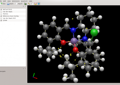 Avogadro showing QTAIM visualization