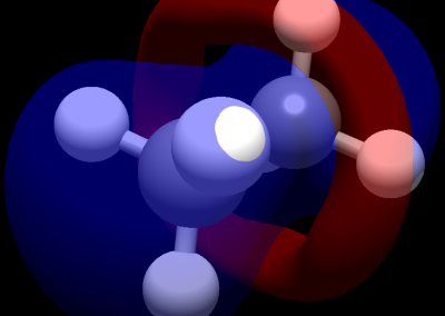 Molecular orbital visualization in ethane