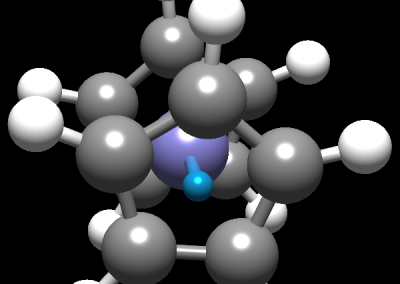 Ferrocene molecule in Avogadro 2