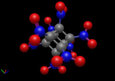 Octanitrocubane saved by Avogadro 2